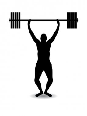 Weight lift silhouette