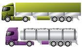 Evropská nákladní automobily s přívěsy