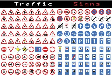 Traffic sign collection stock vector