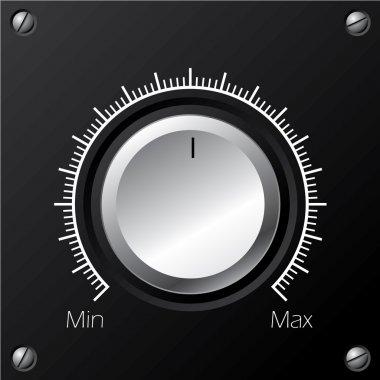 Volume knob with calibration