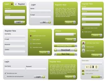 Green website form set