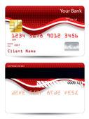 Fényképek Absztrakt piros design hitelkártya