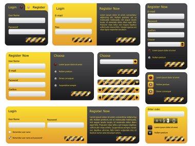Hazard website form set