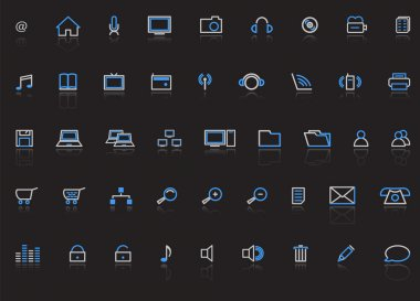 Web icons, vector illustration