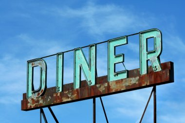 Abandoned roadside diner sign