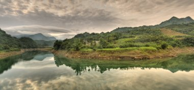 Panoramic river scenery