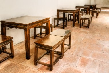 Chinese wooden chair and table