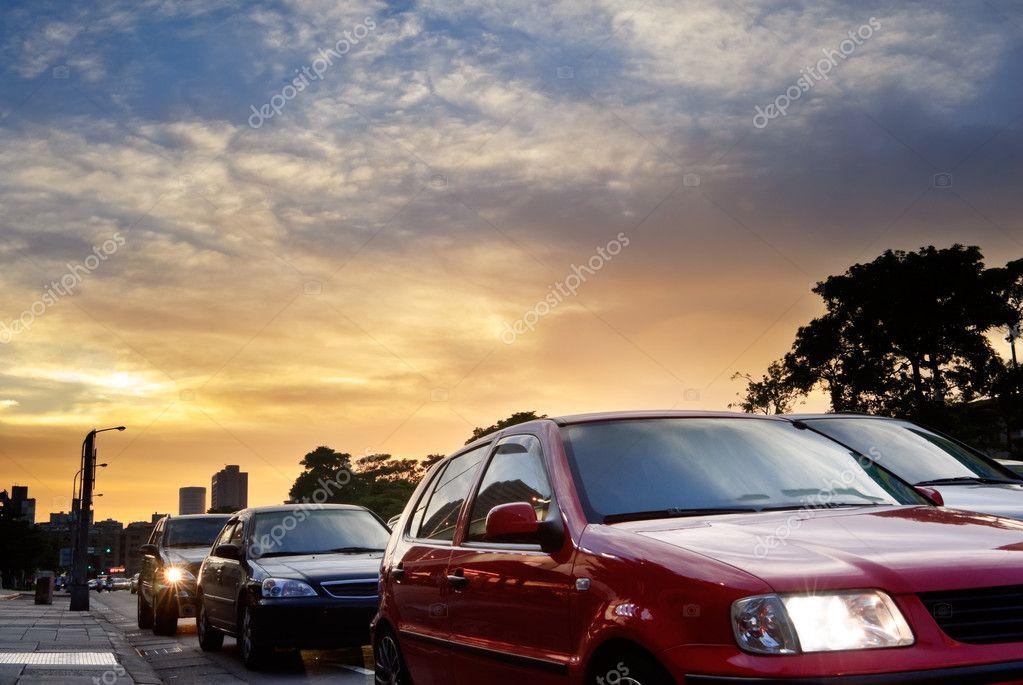 City cars jam