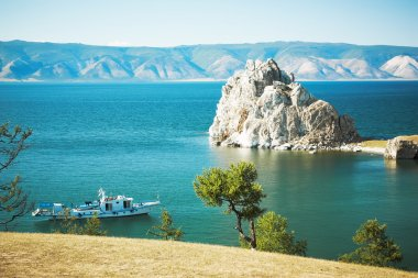 Mountain Burhan lake Baikal