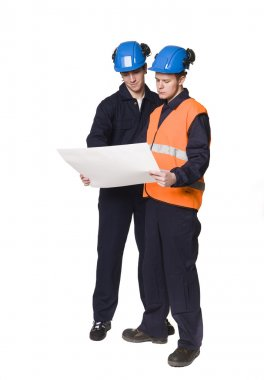 Men in workingclothes