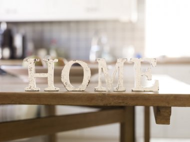 Home with antique letters
