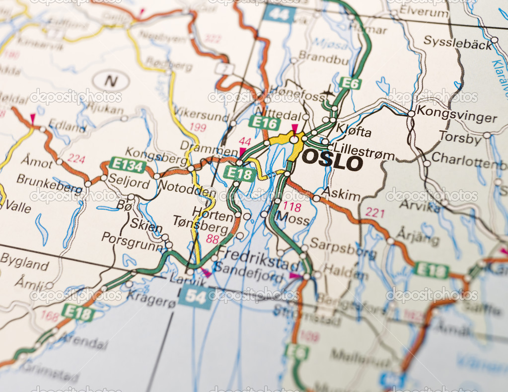 Map of Oslo Stock Photo gemenacom 2975608