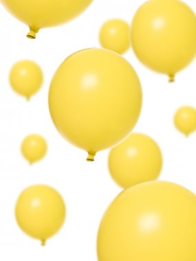 Yellow balloons isolated on white background stock vector