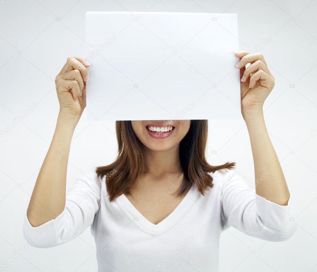 paper on the woman in white