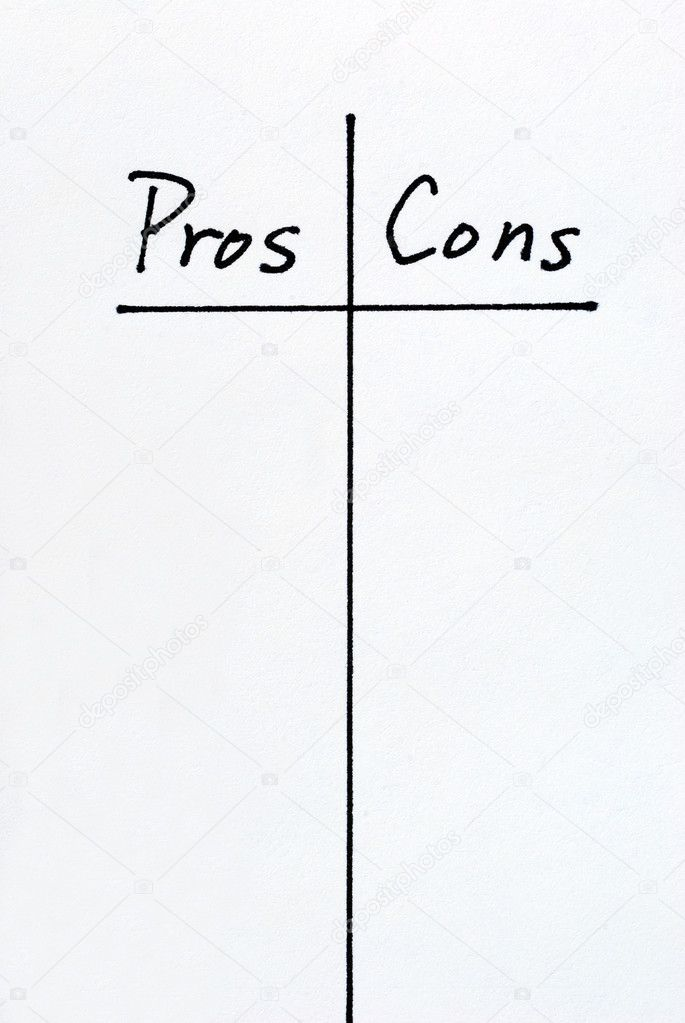 Image result for pros and cons list