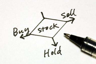 Buy sell or hold stocks concepts of making an investment decision