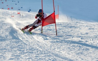 Competitions on mountain ski