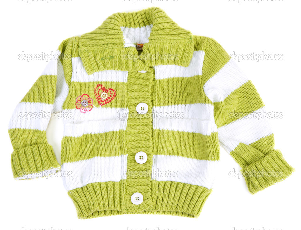 6216584155eb Baby sweater striped with green strip — Stock Photo © Ruslan  3862013