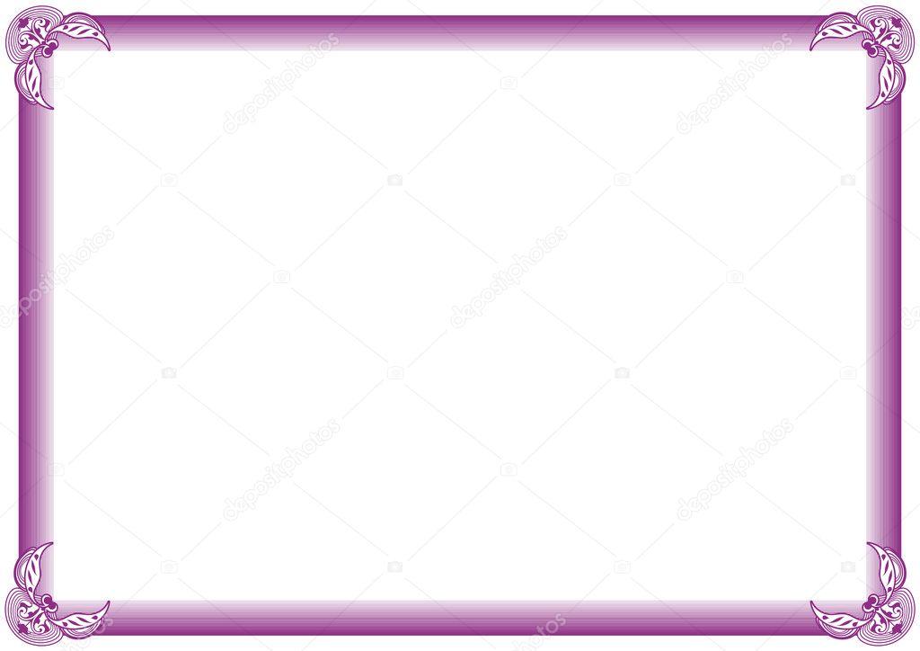 marco de diploma — Vector de stock © justaa #3361331