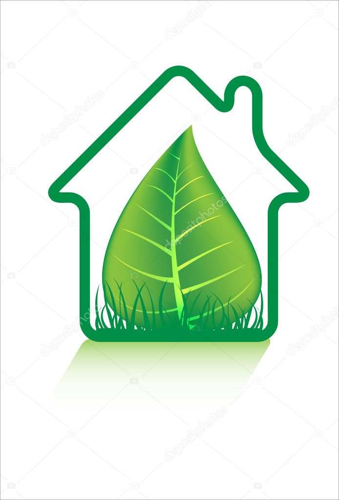 Eco green home icons