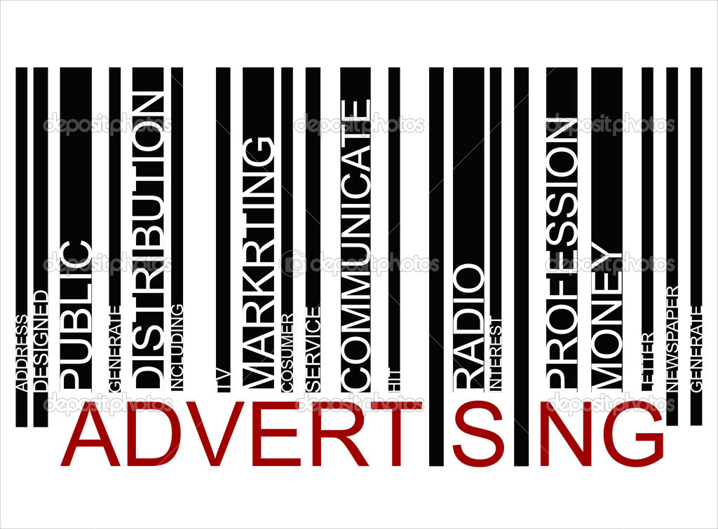 ADVERTISING text bar-code