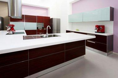 Purple kitchen counter