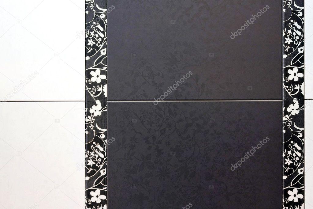 Piastrelle nere u foto stock baloncici