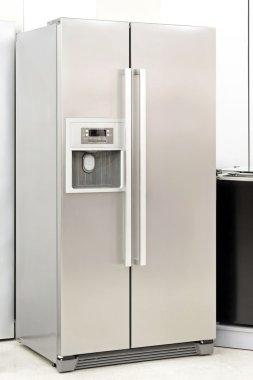 Silver fridge