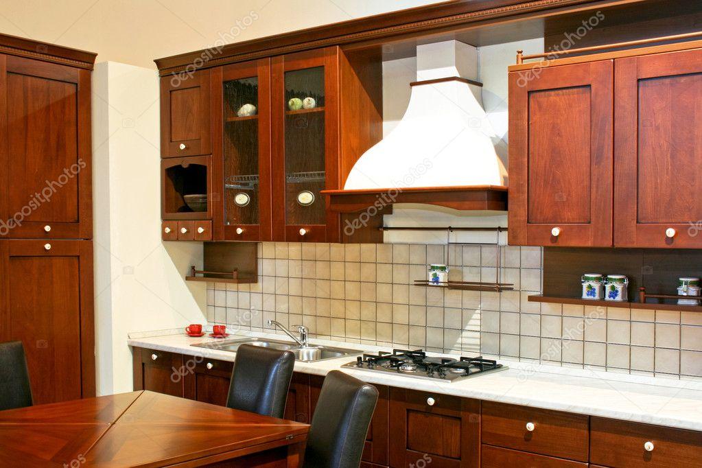 cuisine en bois fonc photographie baloncici 3204264. Black Bedroom Furniture Sets. Home Design Ideas