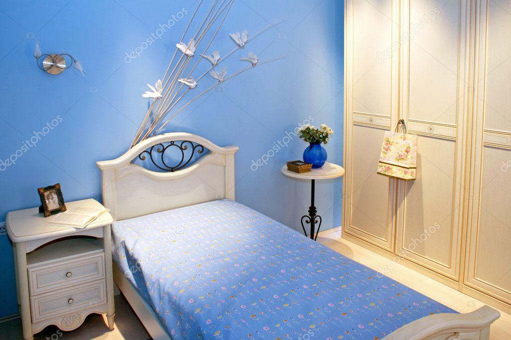 Blauwe kamer u stockfoto baloncici