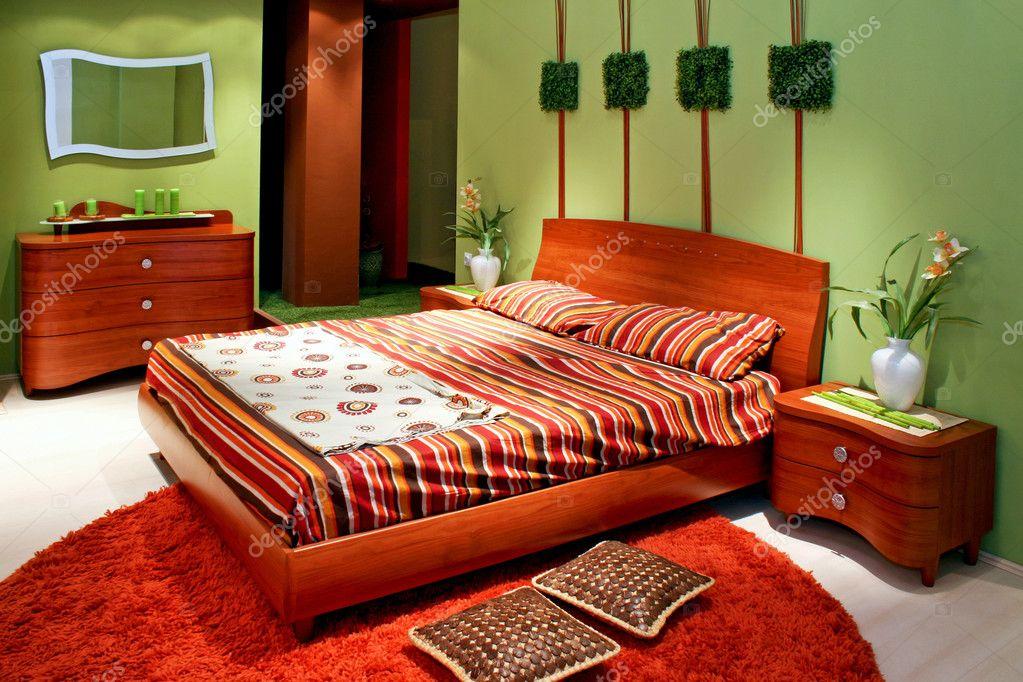 Camera da letto verde — Foto Stock © Baloncici #3235006