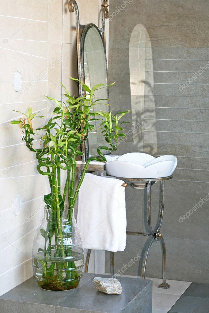 bambusz fürdőszoba — Stock Fotó © Baloncici #3249914