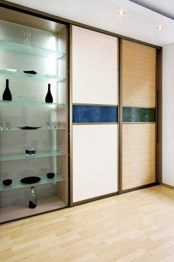 Wardrobe bamboo vertical