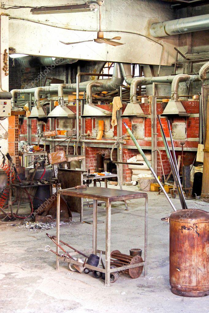 Murano Glass Factory.Murano Glass Factory Stock Photo C Baloncici 3460801