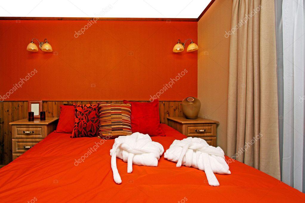 rode slaapkamer — Stockfoto © Baloncici #3466630