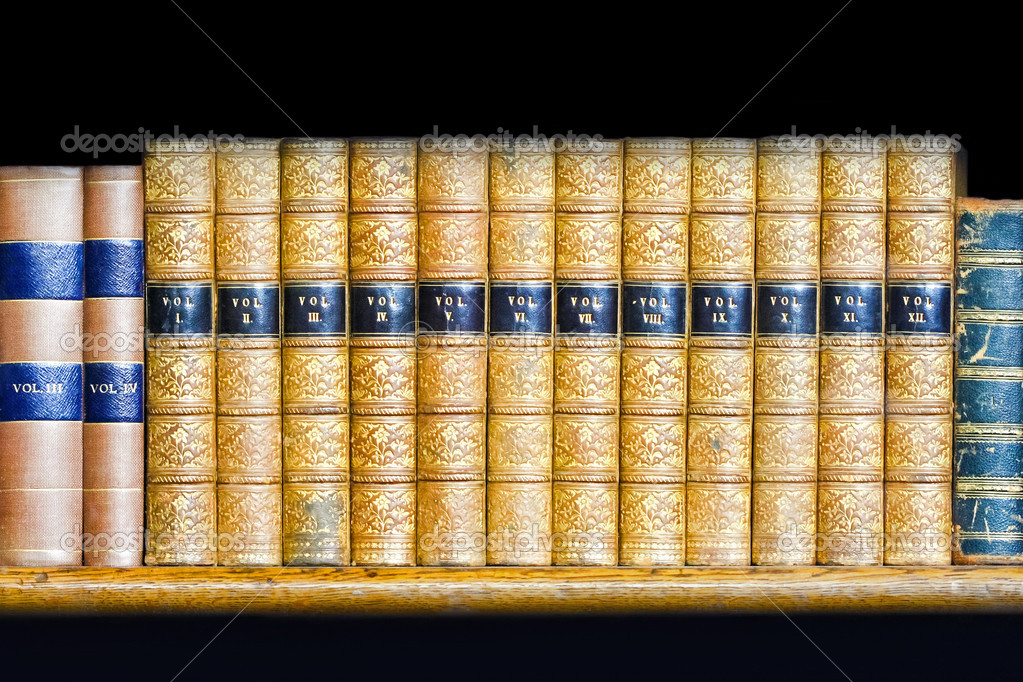 Bücherreihe regal  Bücher-Bände — Stockfoto © Baloncici #3591545