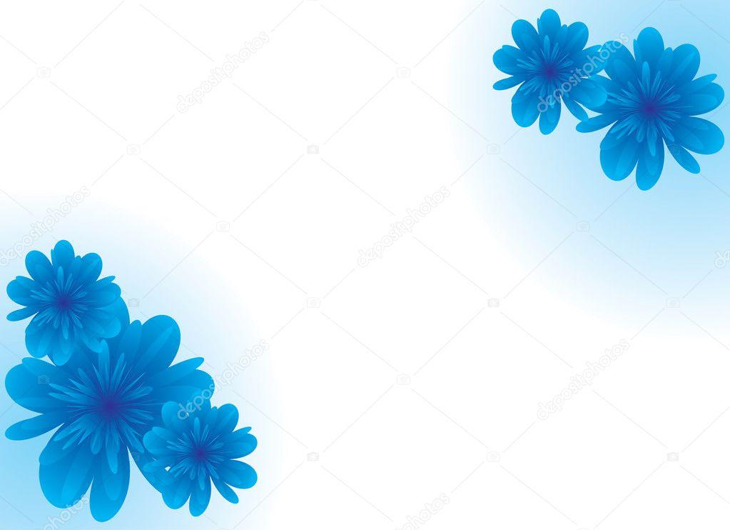 Rahmen mit blauen Blumen — Stockfoto © ufimka #3185198