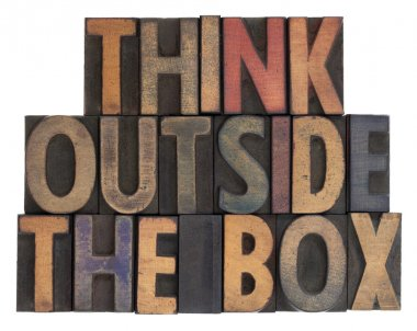 Think outside the box, vintage wood type