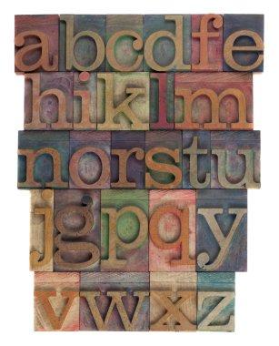 Alphabet abstract - letterpress type