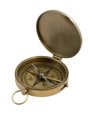 Vintage brass compass