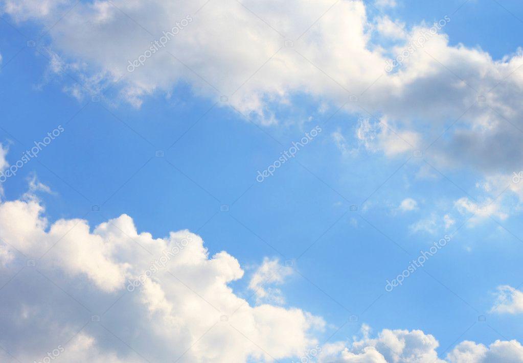 Summer brightly-blue sky
