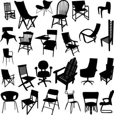 Chair collection - vector stock vector