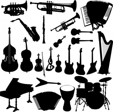 Music instrument vector stock vector