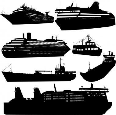 Ships and cruise ship