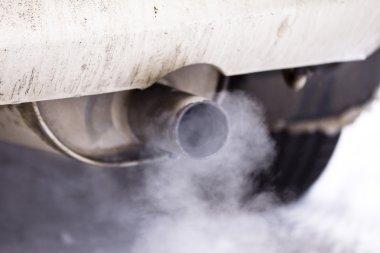Smoke exhaust pipe car