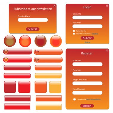 Red and Orange Web Template