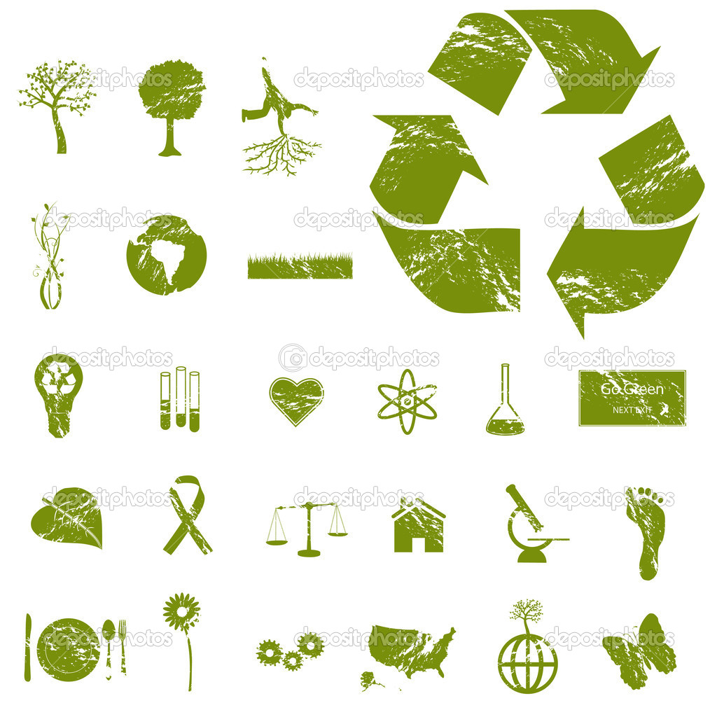 Grunge Eco Icons