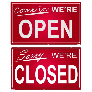 Open and Closed Signs