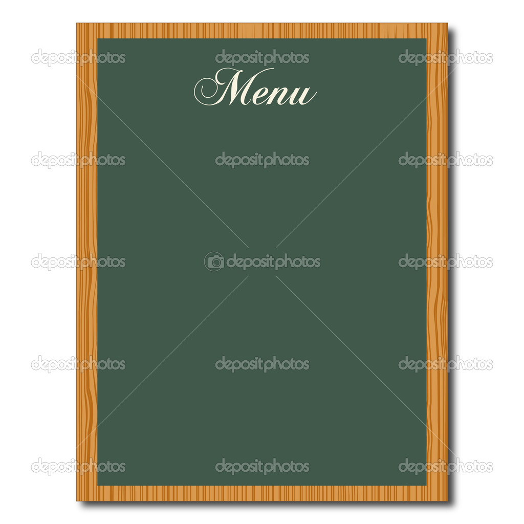 green chalkboard menu — stock vector © nmarques74 #3436261