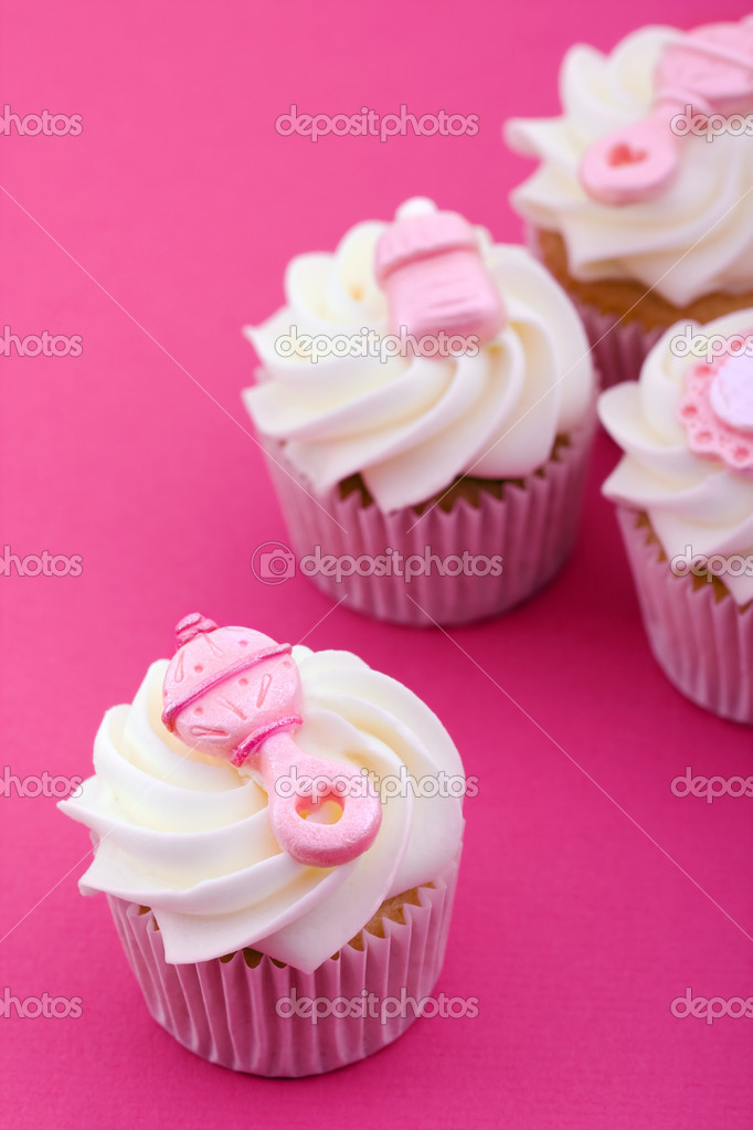 Cupcakes Decorated With A Baby Girl Theme U2014 Photo By RuthBlack
